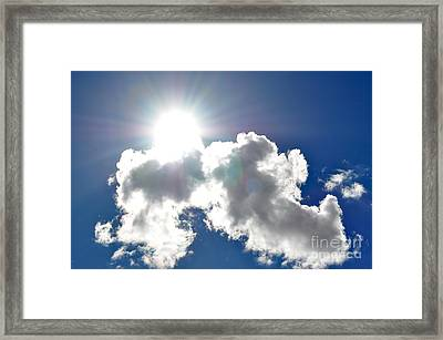 Affirmation Sunlit Oracle Framed Print by Coralie Plozza