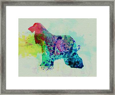 Afghan Hound Watercolor Framed Print by Naxart Studio