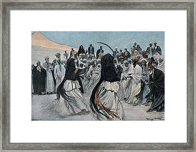 Africa 1901. The Dance Of The Sabre Framed Print by Everett