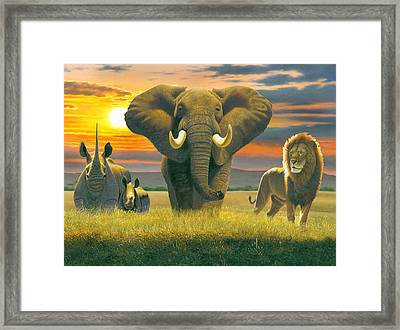 Africa Triptych Variant Framed Print by Chris Heitt