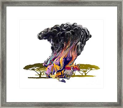 Africa Up In Smoke Framed Print by Sassan Filsoof