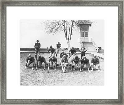 African American Football Team Framed Print by Underwood Archives