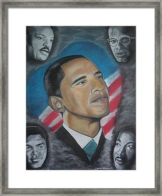 African-american Love Framed Print by Demitrius Roberts