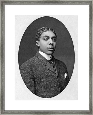 African American Man Portrait Framed Print by Underwood Archives