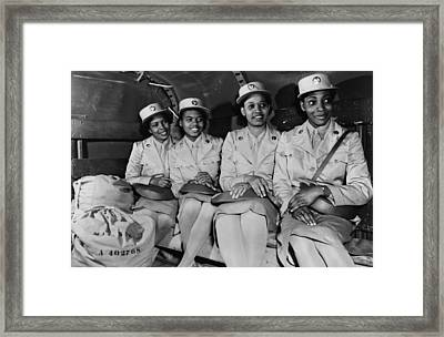 African American Members Of The Womens Framed Print by Everett
