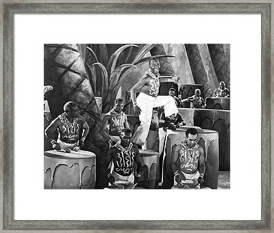 African American Musical Scene Framed Print by Underwood Archives