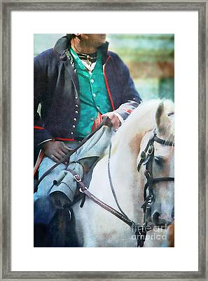 African American Soldier Framed Print by Stephanie Frey