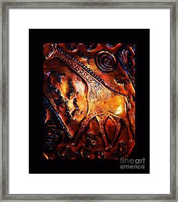 African Giraffe Framed Print by Susanne Still