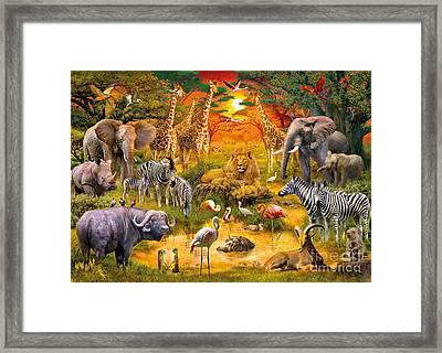 African Harmony Framed Print by Jan Patrik Krasny