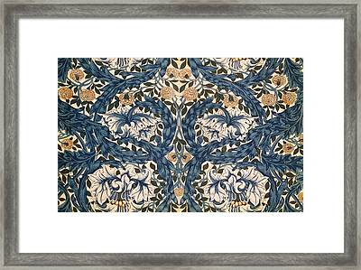 African Marigold Design Framed Print by William Morris