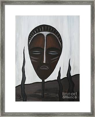 African Mask II Framed Print by Eva-Maria Becker