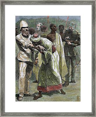 African Native Kissing The Arm Of An Framed Print by Prisma Archivo