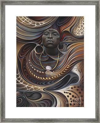 African Spirits I Framed Print by Ricardo Chavez-Mendez