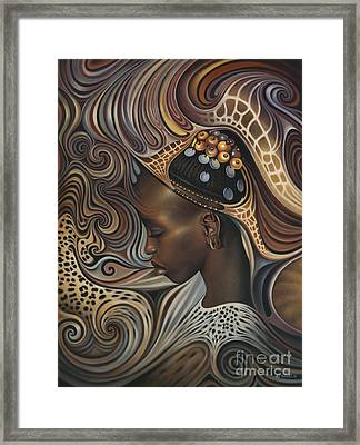 African Spirits II Framed Print by Ricardo Chavez-Mendez
