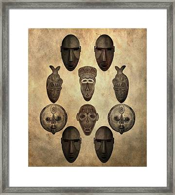 African Tribal Masks Framed Print by Dan Sproul