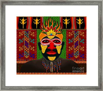African Tribesman 1 Framed Print by Bedros Awak