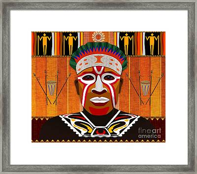 African Tribesman 3 Framed Print by Bedros Awak