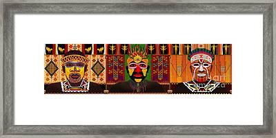 African Tribesmen Framed Print by Bedros Awak
