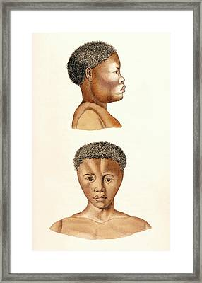 African Woman Framed Print by King's College London