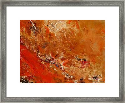 After A Long Time - Abstract Art Framed Print by Ismeta Gruenwald