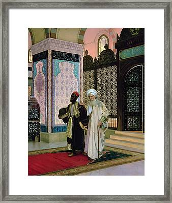 After Prayers At The Mosque Framed Print by Rudolphe Ernst
