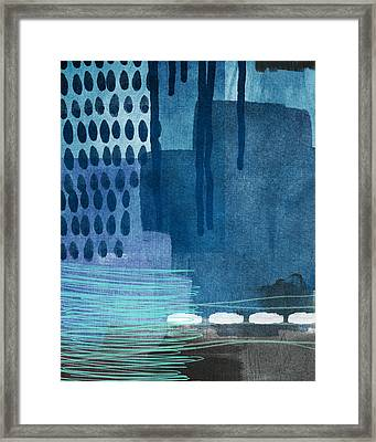 After Rain- Contemporary Abstract Painting  Framed Print by Linda Woods