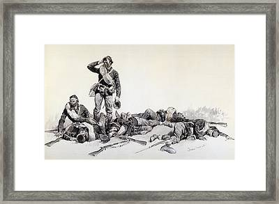 After The Battle Framed Print by Frederic Remington