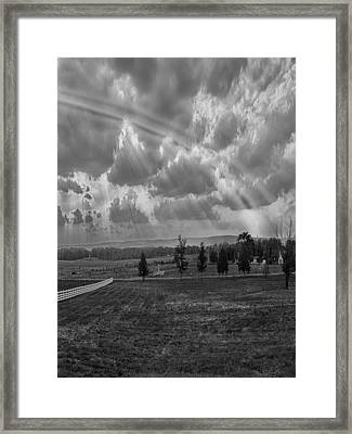 After The Battle Right Framed Print by James Heckt
