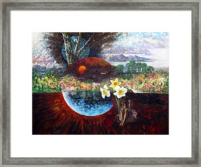 After The Death Of Christ Framed Print by John Lautermilch