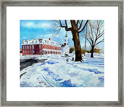 After The Grafton Common Snow Framed Print by Scott Nelson