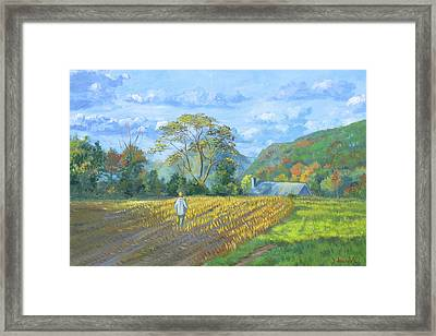 After The Harvest Framed Print by Dominique Amendola