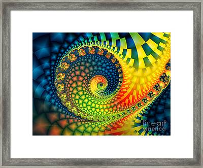 After The Rain-fractal Art Framed Print by Karin Kuhlmann