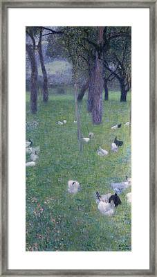 After The Rain Framed Print by Gustav Klimt