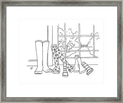After The Rain Has Gone Framed Print by Roisin O Farrell