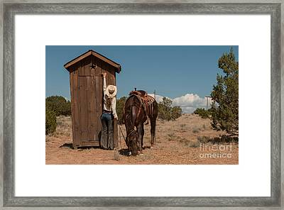 After The Ride Framed Print by Sherry Davis