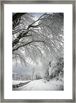 After The Snow Storm Framed Print by John Haldane