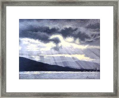 After The Storm Framed Print by Beverly Theriault