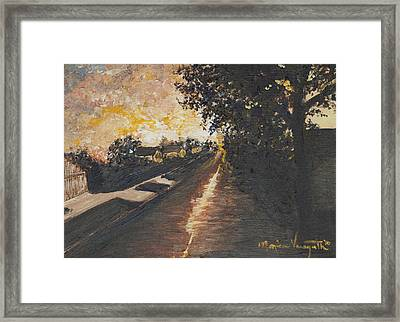 After The Storm Framed Print by Monica Veraguth