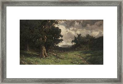 After The Storm Framed Print by William Keith