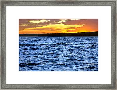 Afterglow Framed Print by Olivier Le Queinec