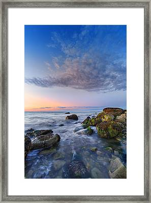 Afterglow On Long Island Sound Framed Print by Rick Berk