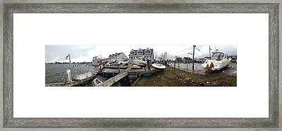Aftermath Of Hurricane Sandy, Island Framed Print by Panoramic Images
