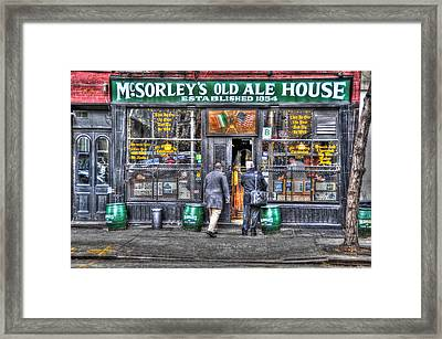 Afternoon At Mcsorley's Framed Print by Randy Aveille
