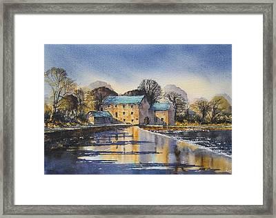 Afternoon At Mullins Mill Kilkenny Framed Print by Roland Byrne