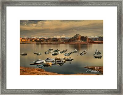 Afternoon At The Wahweap Marina Framed Print by Adam Jewell