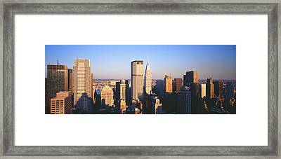 Afternoon Midtown Manhattan New York Ny Framed Print by Panoramic Images
