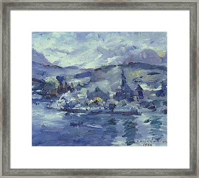 Afternoon On Lake Lucerne Framed Print by Lovis Corinth