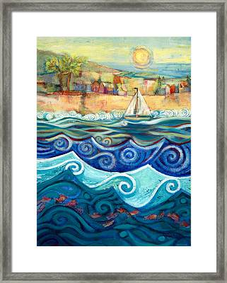 Afternoon Sail Framed Print by Jen Norton