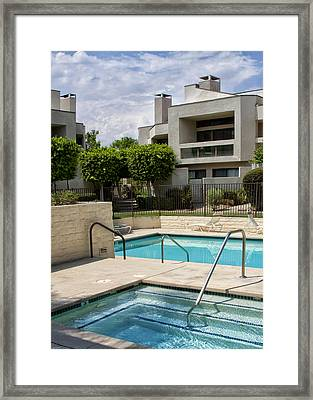 Afternoon Swim Palm Springs Framed Print by William Dey