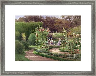Afternoon Tea By The Laurel Arch Framed Print by Georgina M de lAubiniere